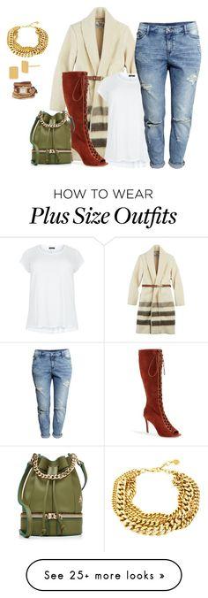 """plus size weekend day chic"" by kristie-payne on Polyvore featuring Woolrich, Joie, H&M, MANU Atelier, Ben-Amun, Diane Von Furstenberg, La Mer, women's clothing, women and female"