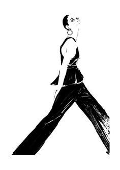 Elegant black & white White fashion illustration // Judith van den Hoek Source by anna_lui Fashion Illustration Face, Beauty Illustration, Graphic Design Illustration, Watercolor Illustration, Fashion Illustrations, Fashion Sketchbook, Fashion Sketches, Dress Sketches, Fashion Wall Art