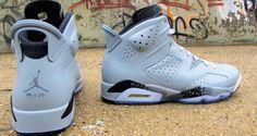 "Air Jordan 6 ""Haze Grey"" Custom - smooth colorway Sneakers Box b58bf0dfd"