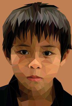 Traingales / polygons Portrait