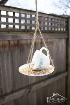 Tea Cup Bird Feeder - CountryLiving.com