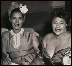 Billie Holiday and Ella Fitzgerald at Bop City nightclub (NY, 1947)