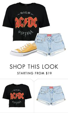 """""""Untitled #85"""" by krye ❤ liked on Polyvore featuring Boohoo and Converse"""