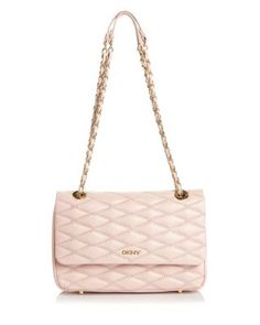 DKNY Quilted Flap Shoulder Bag. #dkny #bags #shoulder bags #hand bags #leather #