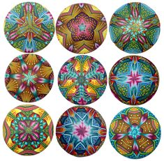 kaleidoscope pendants (Polymer Clay) by Carol Simmons
