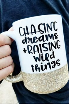 Chasing Dreams Mug. Cute mugs, cool mugs, funny mugs, mom mugs, glitter mugs, unique mugs, ceramic mugs, coffee mugs, tea mugs, wine. #mugs #coffee #gifts #shopping #commissionlink