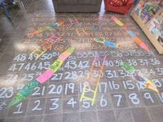 A Life size game of Snakes and Ladders... )just a pic