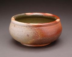 Brown and Gray Wood Fired Shallow Soup Bowl with by YuishCeramics, $25.00
