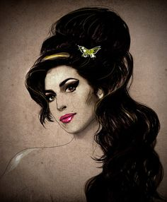 Giclee Print of Illustration Amy Winehouse by Deniz by dnzsea, $52.50 Divas, Amy Winehouse, Vaughan, Her Music, Illustration, Disney Characters, Fictional Characters, Wine Delivery, Musa