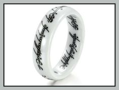 New Retro the Lord of the Rings White Ceramic Finger Band Words Top Quality 216 the Lord of the rings. Gift for lover. Ceramic Rings No Fading. Wedding Bands For Him, Womens Wedding Bands, Wedding Rings For Women, Wedding Ring Bands, Rings For Men, Finger Band, Ringe Gold, Tungsten Wedding Bands, Vintage Rings