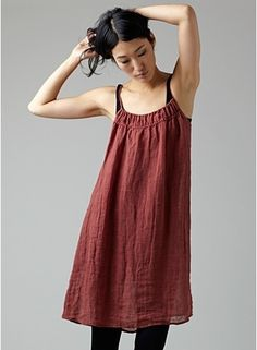 linen dress by eyesmalone- We love the organic feel and texture that linen brings to an image. We like the cut of the piece, but recommend staying away from brighter reds.