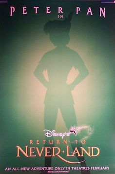 Great Original 2002 Disney Movie Poster RETURN TO NEVERLAND Check out the web site