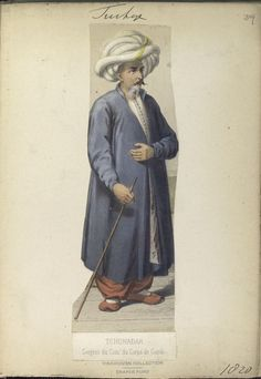 Sargent du Com' du Corps de Garde. The Vinkhuijzen collection of military uniforms / Turkey, 1818. See McLean's Turkish Army of 1810-1817.