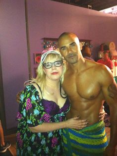 Shemar Moore (Derek Morgan) & Kirsten Vangsness (Penelope Garcia) behind the scenes of criminal minds