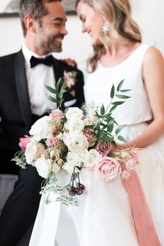 Artsy Rooftop Garden Wedding at the La Peer Hotel - Inspired By This Hollywood Hills, West Hollywood, Rooftop Wedding, Wedding Bouquets, Wedding Dresses, Garden Wedding Inspiration, Modern Romance, Rooftop Garden, Classic Elegance