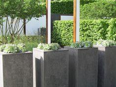 Chelsea Flower Show, London :: 2008 Love Garden, Shade Garden, Creative Landscape, Landscape Design, Concrete Design, Concrete Pavers, Modern Garden Design, Modern Planters, Chelsea Flower Show