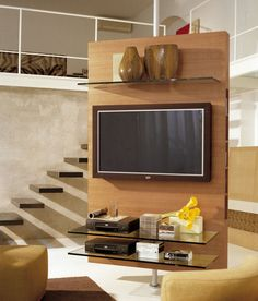 Best Ideas Modern Tv Cabinet Designs For Living Room 31 Tv Cabinet Design, Swivel Tv Stand, Wooden Tv Stands, Tv Stand Designs, Tv Furniture, Furniture Stores, Modern Tv, Tv Cabinets, Open Plan Living