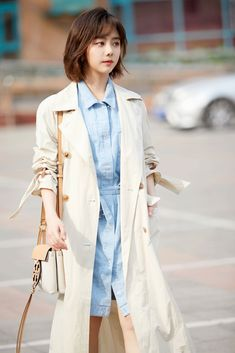 Korean Beauty, Asian Beauty, Korean Drama Tv, Stylish Outfits, Fashion Outfits, Trench Coat Outfit, Chinese Actress, Cute Couples, Actors & Actresses