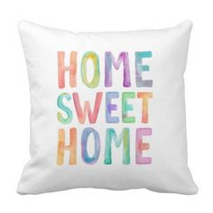 HOME SWEET HOME WATERCOLOR | PILLOW Throw Pillow
