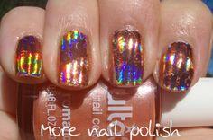 Peachy foils ~ More Nail Polish