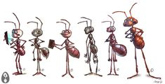 - My list of the most beautiful animals Cartoon Sketches, Animal Sketches, Art Sketches, Character Concept, Concept Art, Character Design, Ant Art, Insect Art, Most Beautiful Animals