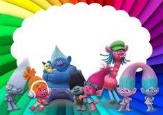 Artes da Festa: Moldura e Wallpaper dos Trolls
