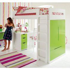 Farringdon High Sleeper With Desk | Smart High Sleeper Beds for Children | ASPACE £1075