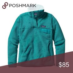 Aqua blue patagonia Women's Aqua Re-Tool Snap-T Fleece Pullover. size S. Patagonia Tops Sweatshirts & Hoodies