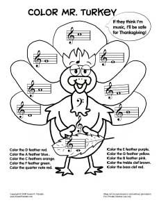 for tin whistle: colormrturkeybw, other holiday worksheets on this site