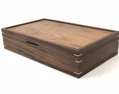 Items similar to Custom Walnut Tea Box on Etsy Wooden Box Designs, Decorative Wooden Boxes, Fine Woodworking, Woodworking Projects, Japanese Woodworking, Woodworking Workbench, Jewellery Boxes, Wooden Jewelry Boxes, Walnut Veneer