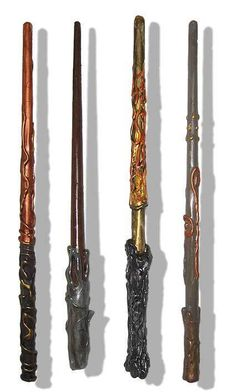 Wands Harry potter and 3 other characters