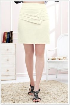 Layer Front Zip Back Skirt Apricot Latest Fashion For Women, Dress Skirt, Layers, Mini Skirts, Zip, Stylish, Stuff To Buy, Clothes, Dresses