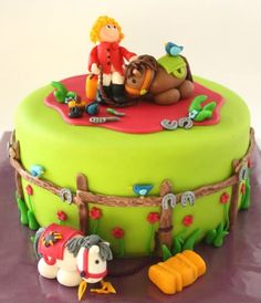 Cute Girl & Horse Cake
