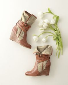 Frye Corby Strappy Wedge Boots..now I can't wait for fall!