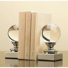 glass globe bookends...to go with your glass globe lamp part :)
