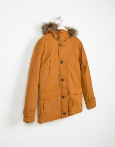 COTTON PARKA WITH SHEARLING LINING - LEFTIES Portugal