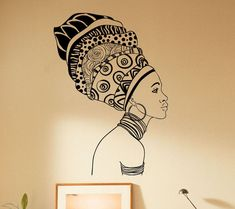 Home Decoration African Woman Wall Decal Beautiful Girl Vinyl Sticker Home Decor Art Vinilos Bedroom House Decor Mural Price history. Subcategory: Home Decor. Floor Stickers, Cheap Wall Stickers, Wall Decals, Head Tattoos, African Women, Head Wraps, Decor Ideas, Painting, Woman