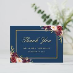 Editable Wedding Welcome Card Template Navy Marsala Burgundy Gold