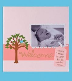 Baby's First Scrapbook Page  Die cuts make it easy to create this sweet keepsake for a new mom, dad or grandparent.Skill Level: No experience necessary Crafting Time: Under 1 hour Skill Level: No experience necessary  add to project list