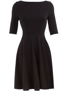 To Make: A doubleknit dress. I would give it a more interesting neckline and a true midriff band. Keep the elbow sleeves and knee-length skirt.