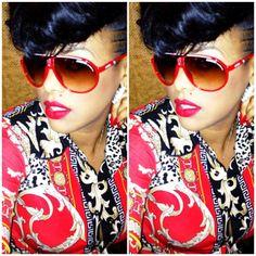 Keyshia Ka'oir in RED ROSES Lipstick - Red Shades