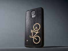 Ebony Bicycle Inlay - Samsung Galaxy S5 Traveler Case