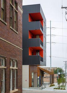 Min | Day clads Nebraska theatre in weathering steel and rebar