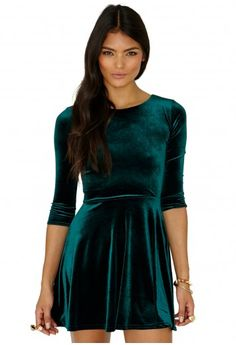 Ofelita Velvet Skater Dress - Dresses - Skater Dress - Missguided