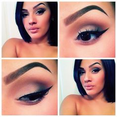 .@viva_glam_kay | Natural smokey eye with whispie lashes