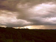 Gewitter bei Gratkorn, 18.06.2016 Celestial, Sunset, Outdoor, Pictures, Thunderstorms, Outdoors, Sunsets, Outdoor Games, Outdoor Living