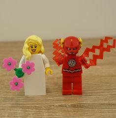 The Flash Lego, Lego cake topper, Lego cake toppers, Lego wedding cake topper, Lego Wedding, Wedding Lego, Lego minifigures, Lego