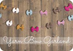 DIY Yarn Bow Garland