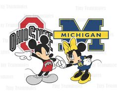 Mickey and Minnie Inspired House Divided - Ohio State Buckeyes vs Michigan Wolverines - Digital File - Any Team Available Upon Request Ohio State Game, Ohio State Michigan, Ohio State Football, Ohio State University, Michigan Wolverines, Detroit Michigan, Ohio State Buckeyes, Buckeyes Football, College Football Teams