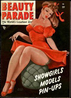 PETER DRIBEN - art for Beauty Parade Feb 1949